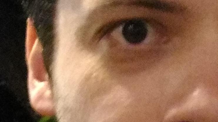 Detalhe de selfie feita com o Zenfone Selfie.