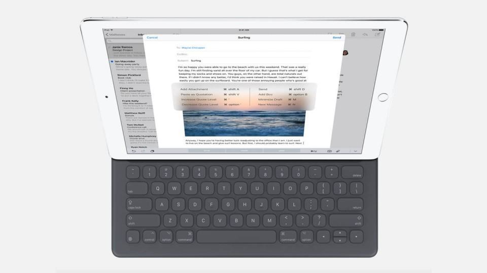 iPad Pro com Smart Keyboard.