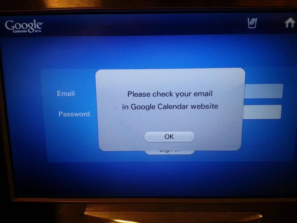 Mensagem de erro da geladeira da Samsung.