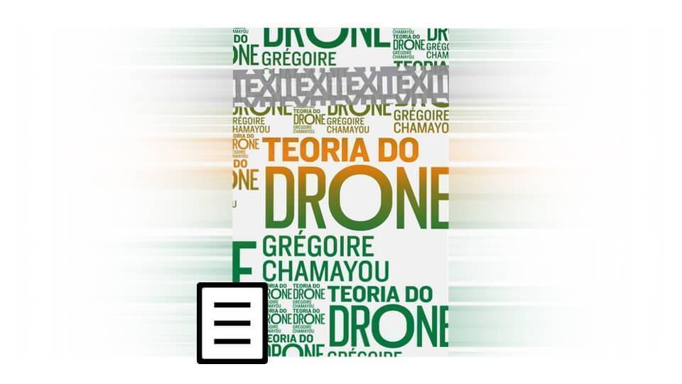 Capa de Teoria do Drone, livro de fevereiro do Clube de Leitura.