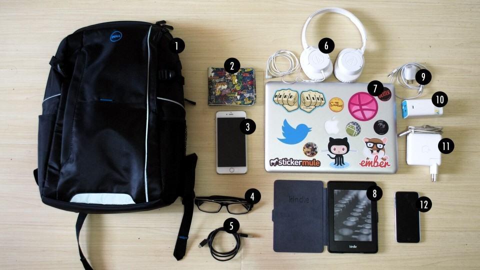 O que tem na mochila da Monique Corrêa.