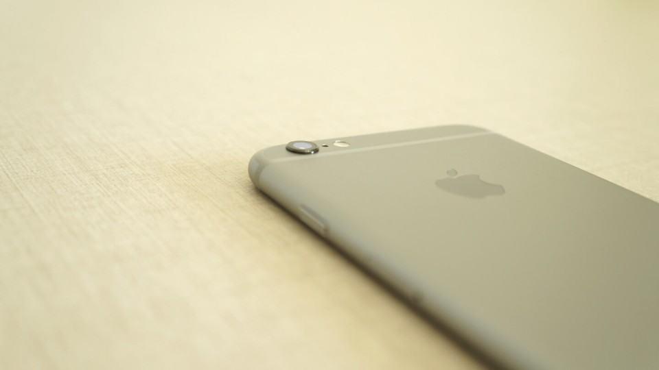 Protuberância da câmera do iPhone 6s.