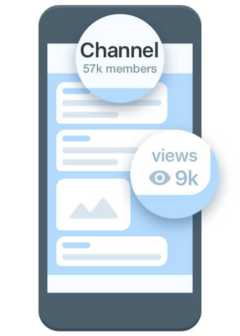 Imagem ilustrativa de canais no Telegram.