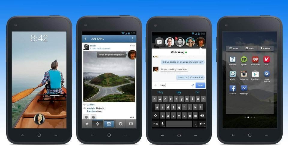 Facebook Home no Android.