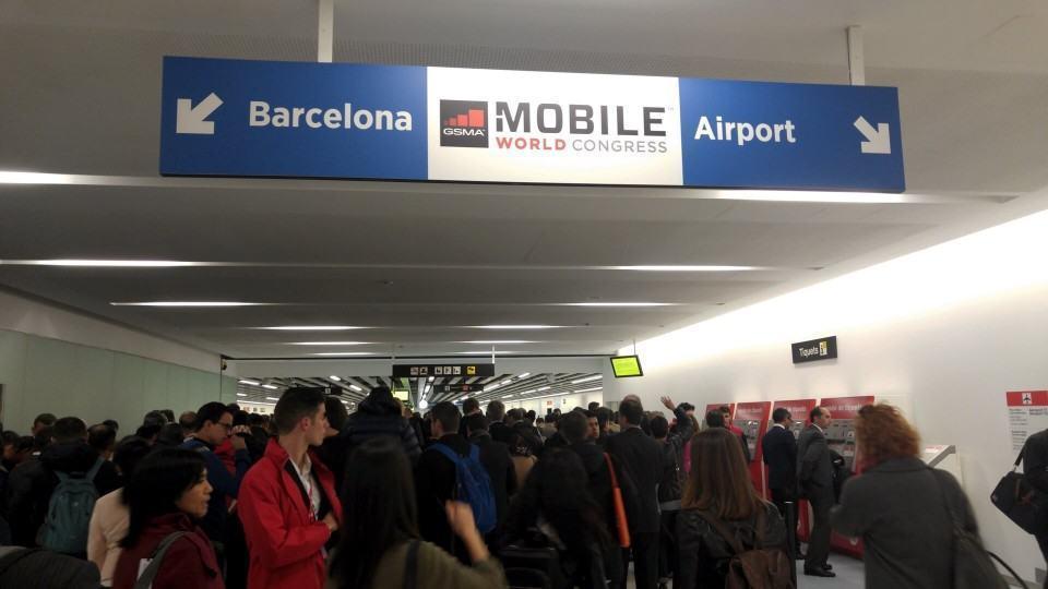 Greve no metrô de Barcelona.