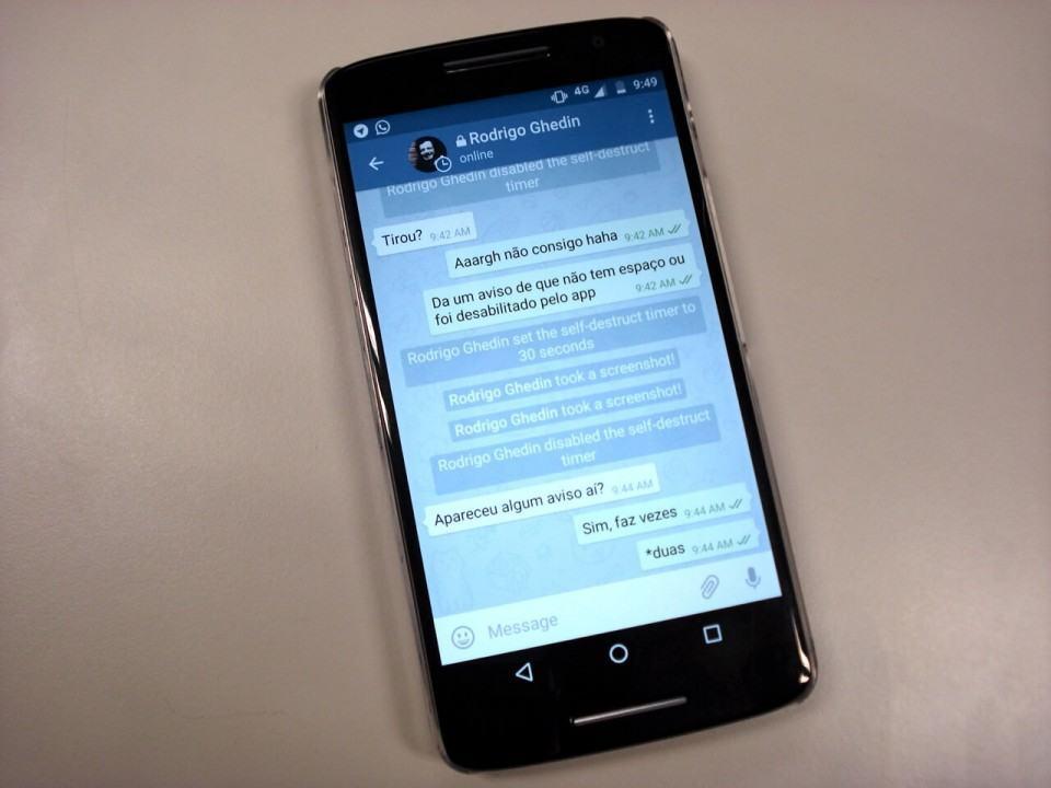 O que o usuário vê quando rola um print no iPhone.