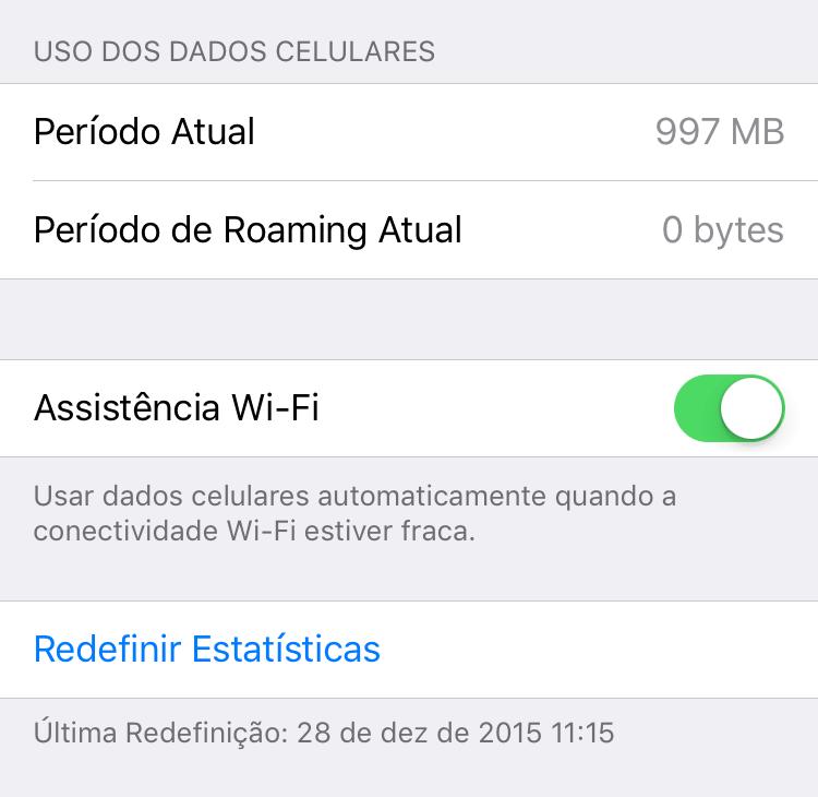 1 GB de dados móveis em dois meses.