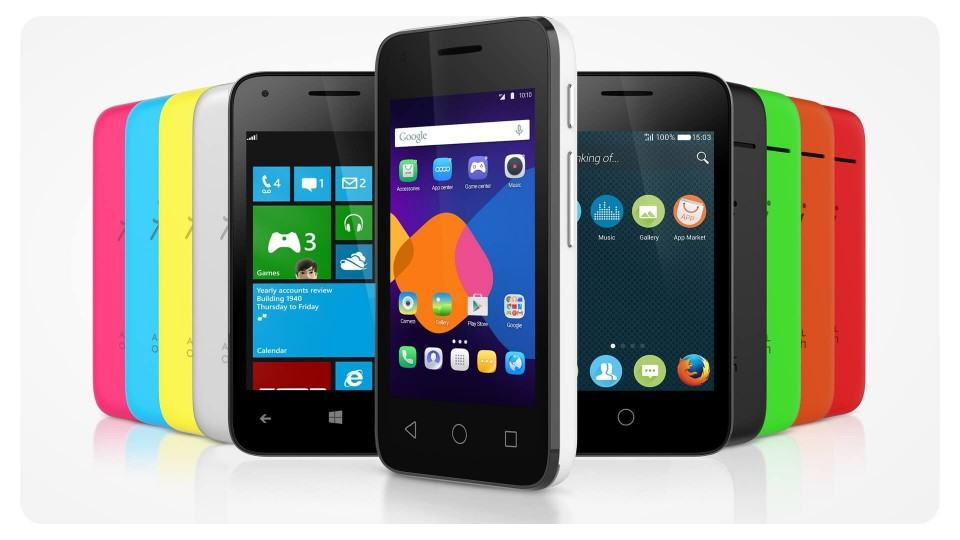 Pixi 3 com Windows Phone, Android e Firefox OS.