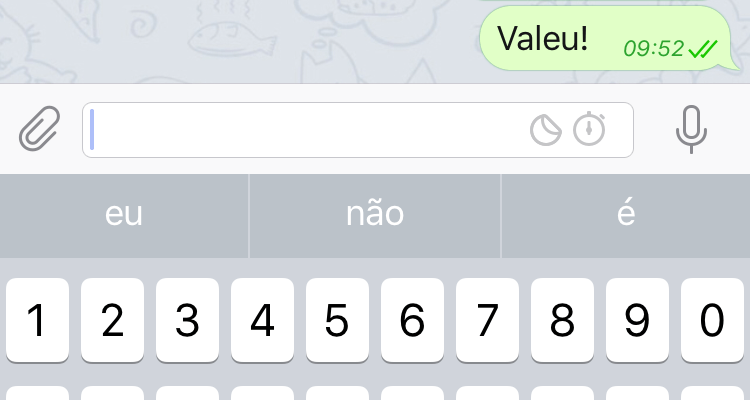 Botões do Chat Secreto do Telegram.