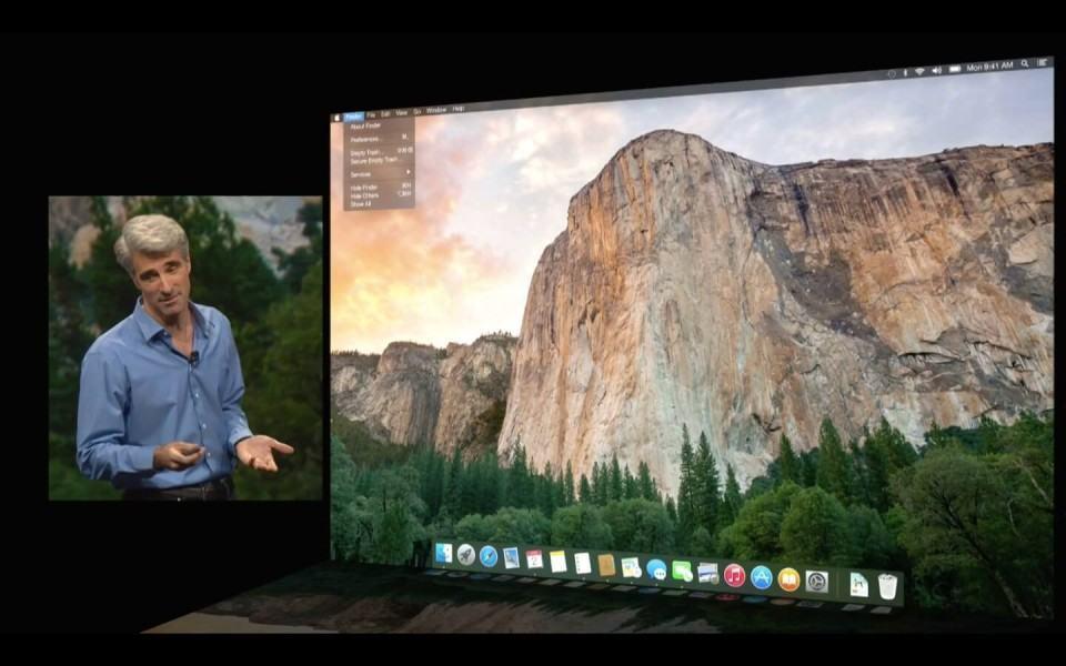 Craig Federighi na WWDC 2014.