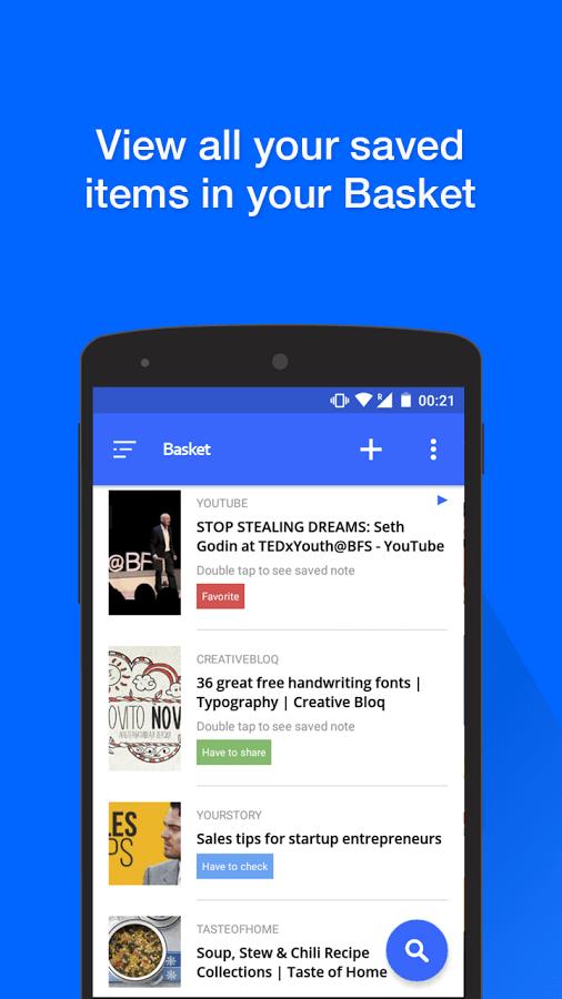 Print do Basket para Android.