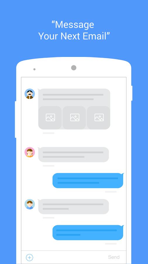 Print do MailTime para Android.