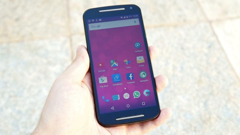Tela inicial do Cyanogenmod num Moto G.