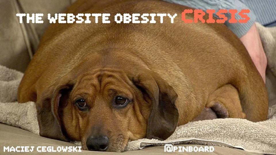 A crise de obesidade dos sites