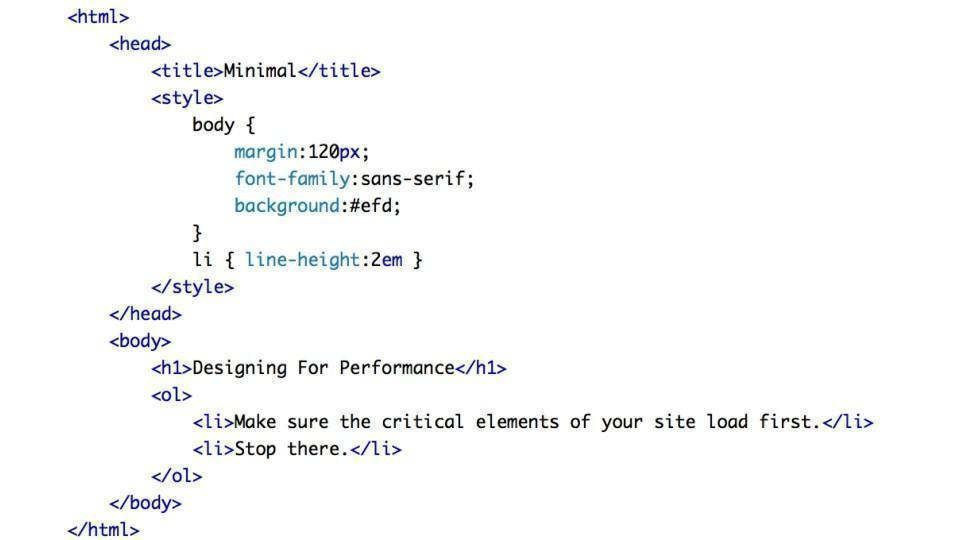 Exemplo de construção simples com HTML e um pouco de CSS.