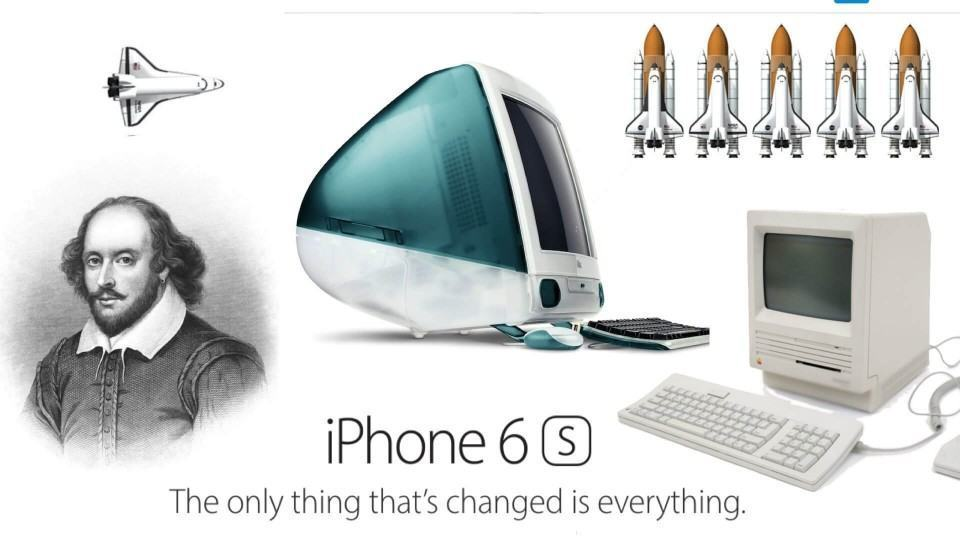 Cabe todas essas coisas no espaço que o site da Apple consome para ser carregado.