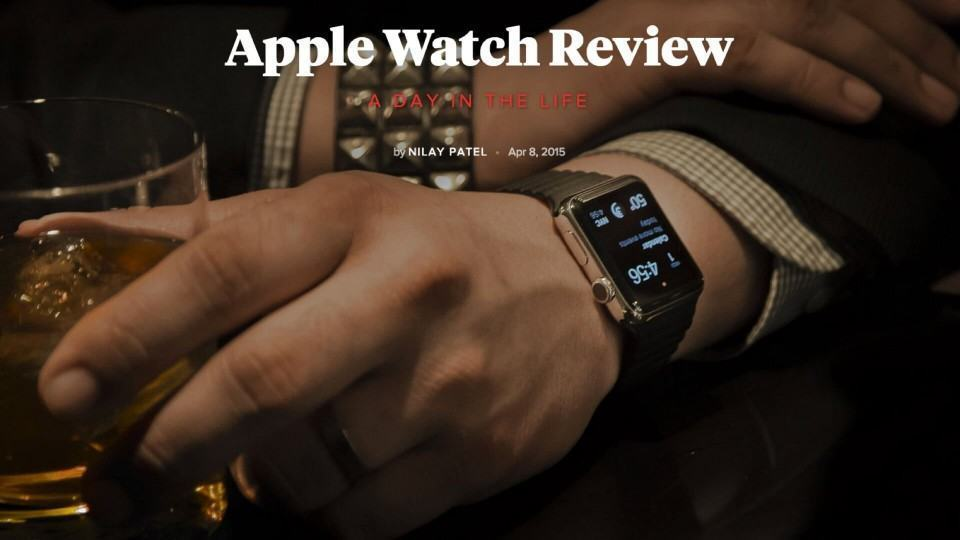 Review do Apple Watch no The Verge: pesado e imprevisível.