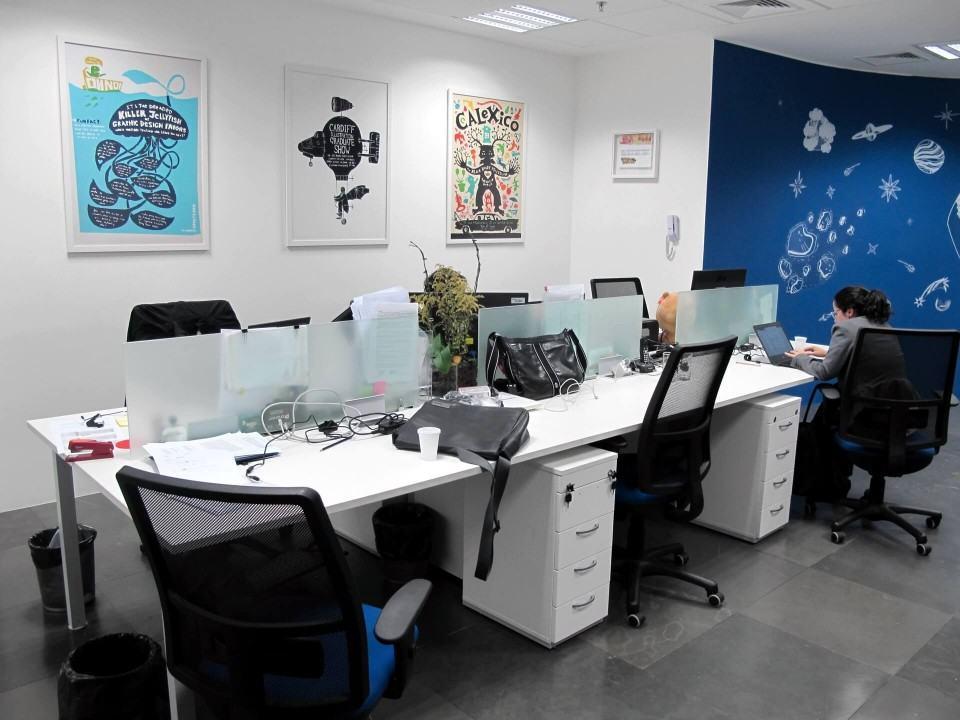 Mais baias no escritório do Baidu.
