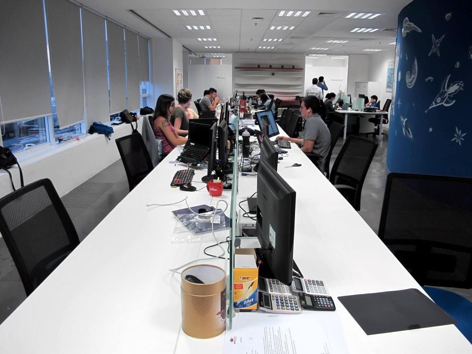 Baias no escritório do Baidu.