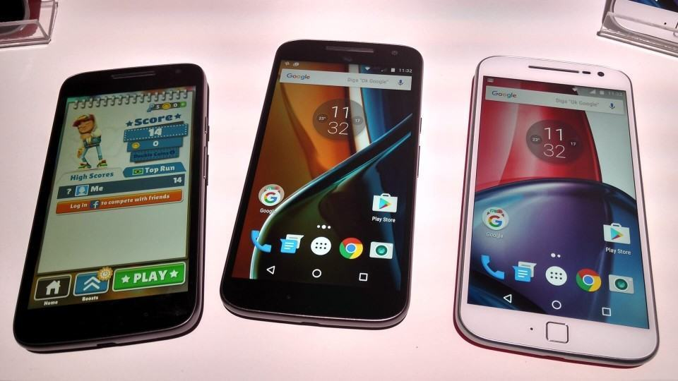 Moto G Play, Moto G e Moto G Plus.