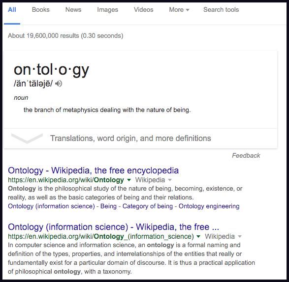 Pesquisa por Ontology no Google.