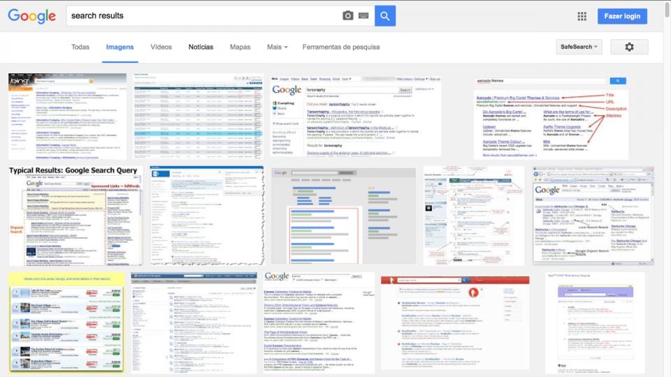 O Google Imagens é a verdadeira busca