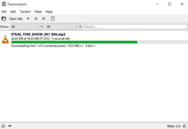 Print do Transmission para Windows.