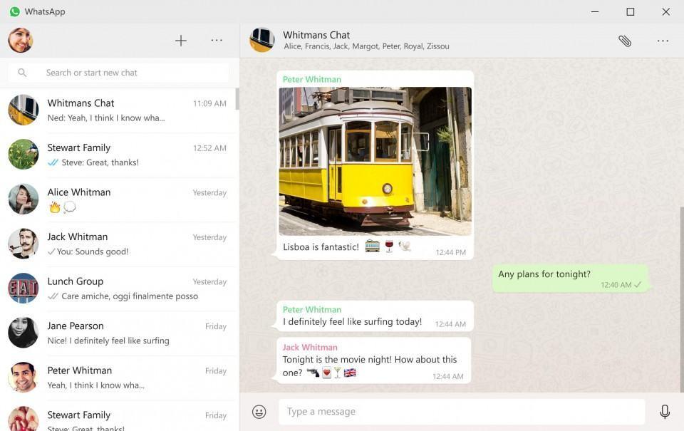 Imagem de divulgação do app do WhatsApp para Windows.