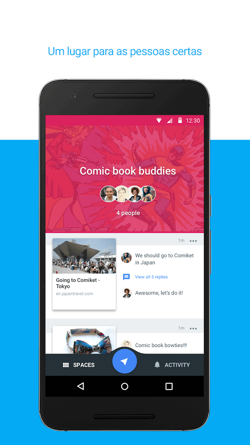Print do Spaces para Android.