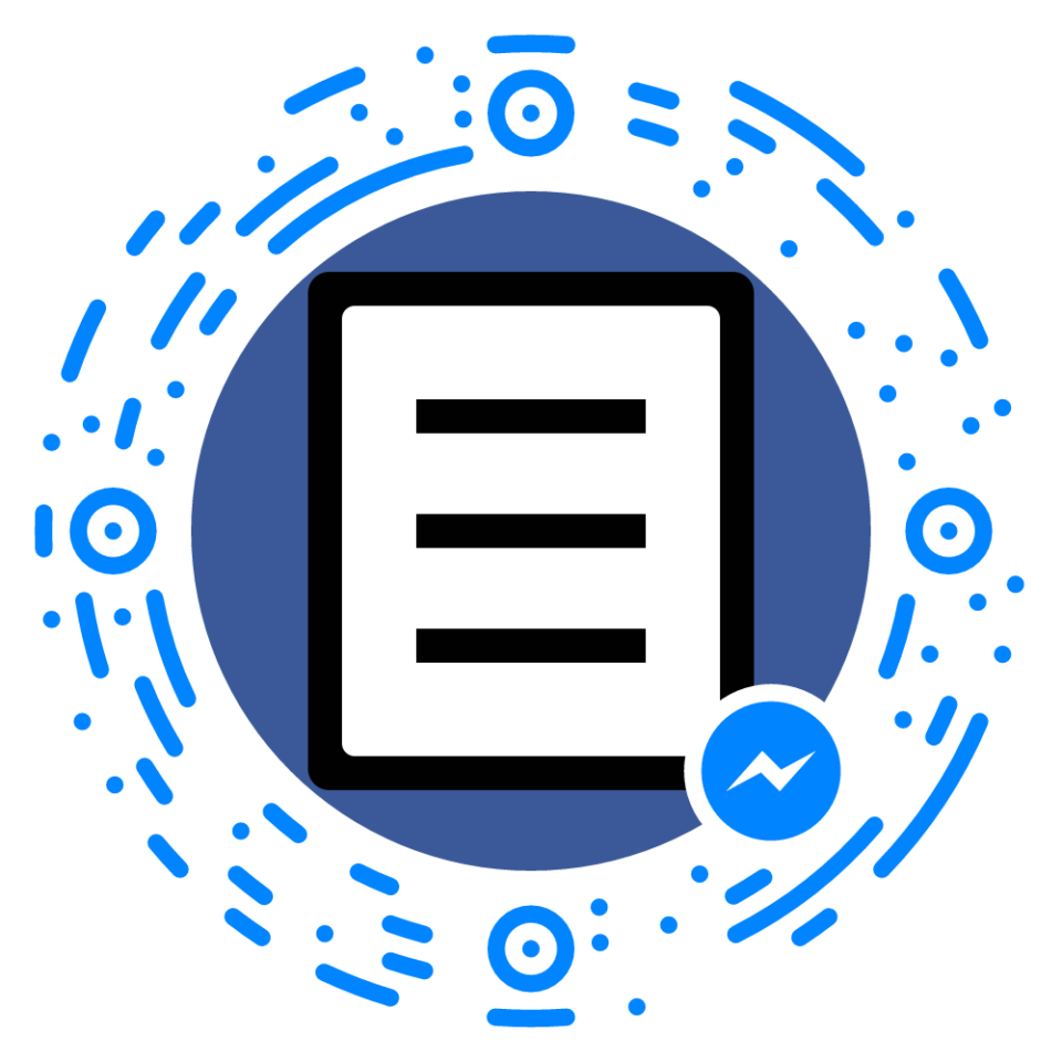 QR Code do Manual do Usuário no Facebook Messenger.