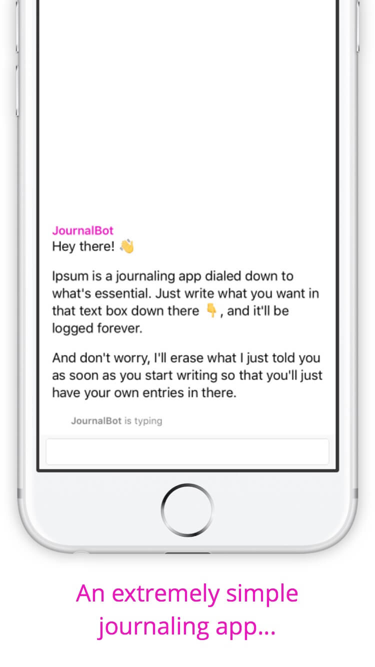 Print do Ipsum para iPhone.