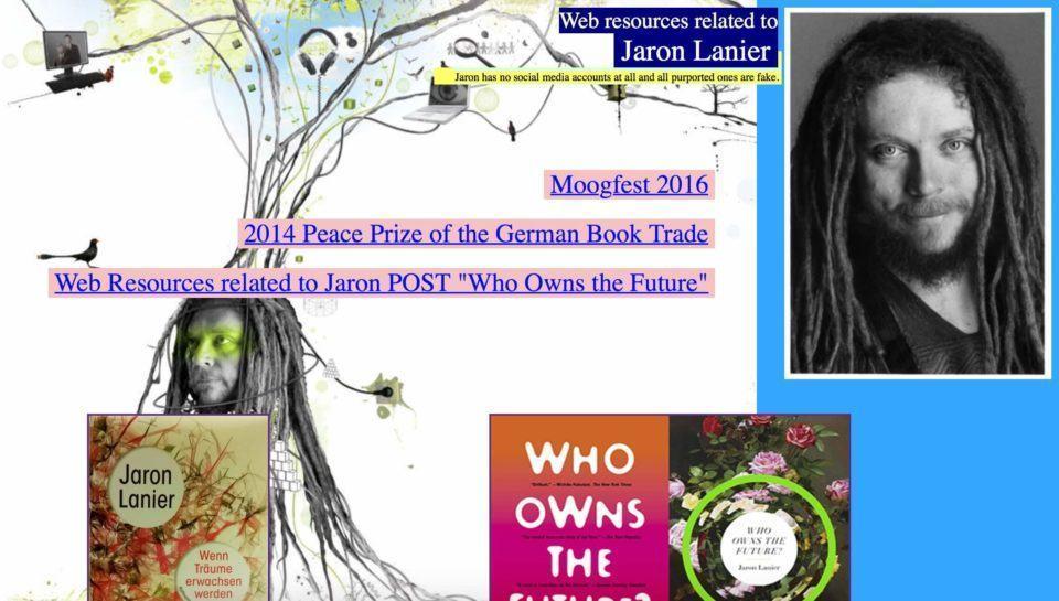 Print do site oficial de Jaron Lanier.