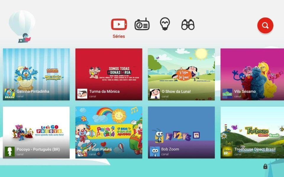 Print do YouTube Kids para Android.