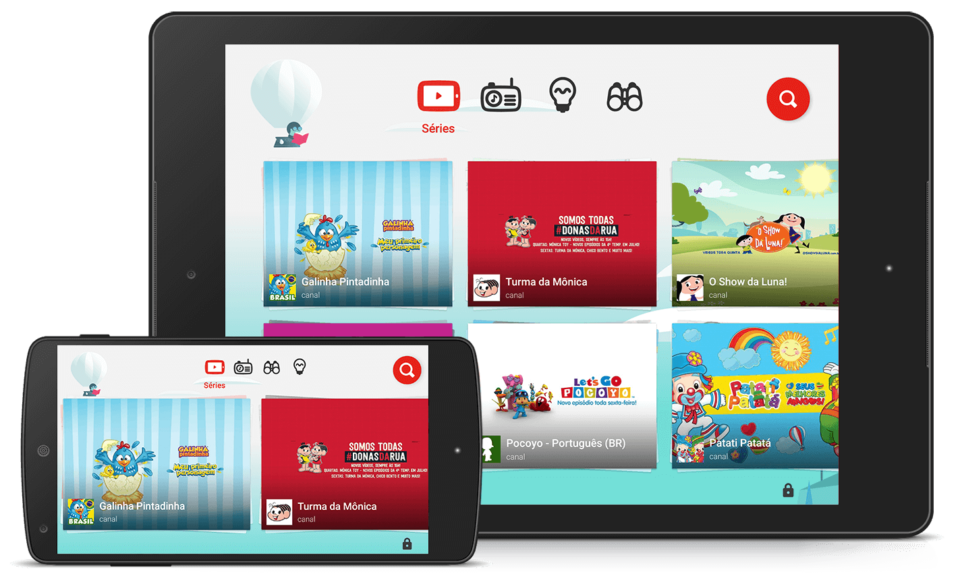 Print do YouTube Kids para iOS.