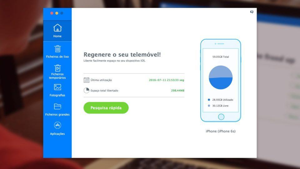 Use o iMyfone Umate para liberar espaço no seu iPhone ou iPad