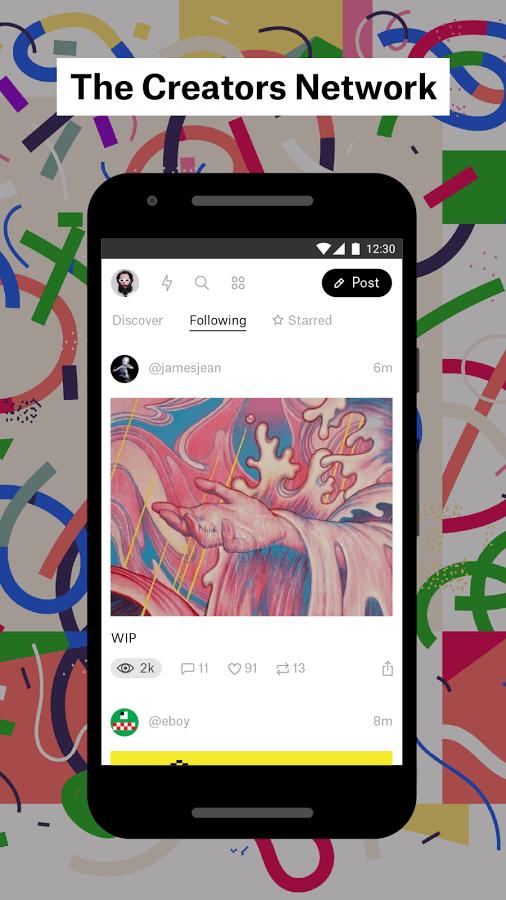 Print do Ello para Android.