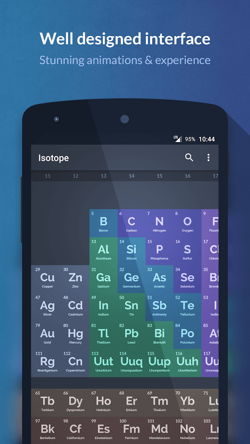 Print do Isotope para Android.