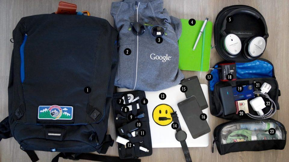 O que tem na mochila do Licio Fonseca.