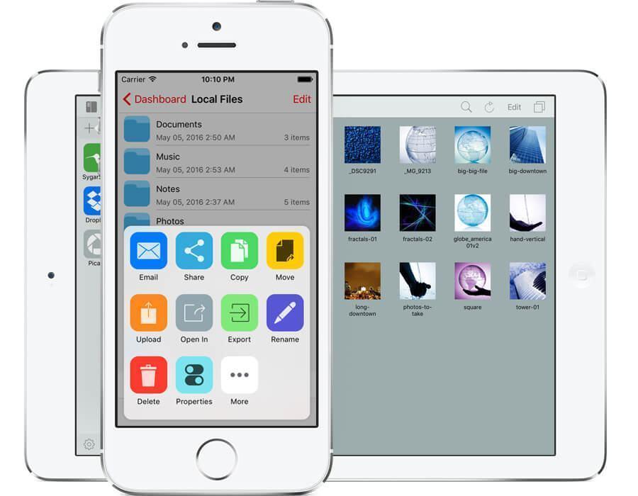 Print do iFiles 2 para iOS.
