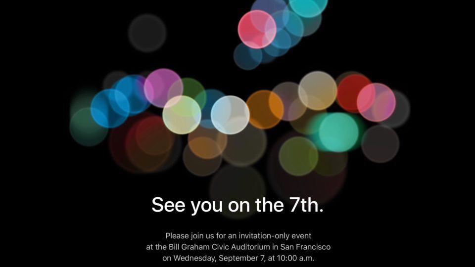 Convite enviado pela Apple à imprensa para o evento do novo iPhone.