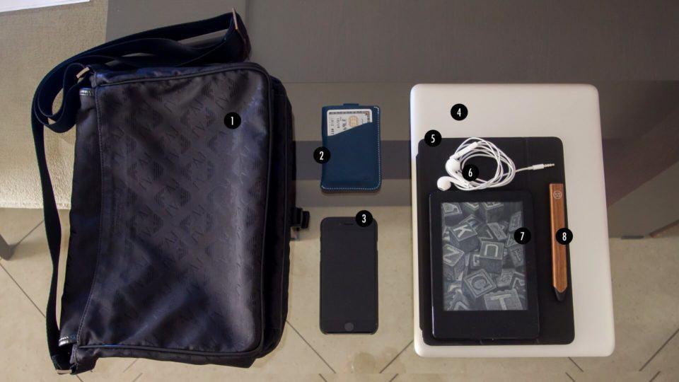 O que tem na mochila do Lucas Oliveira.