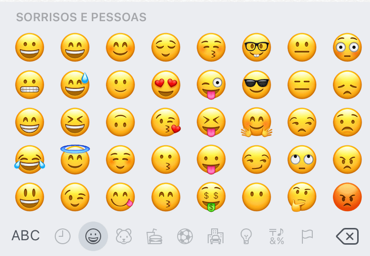 Novos emojis do iOS 10.