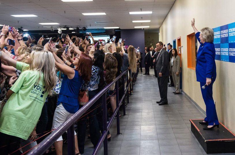 Selfies com Hillary Clinton