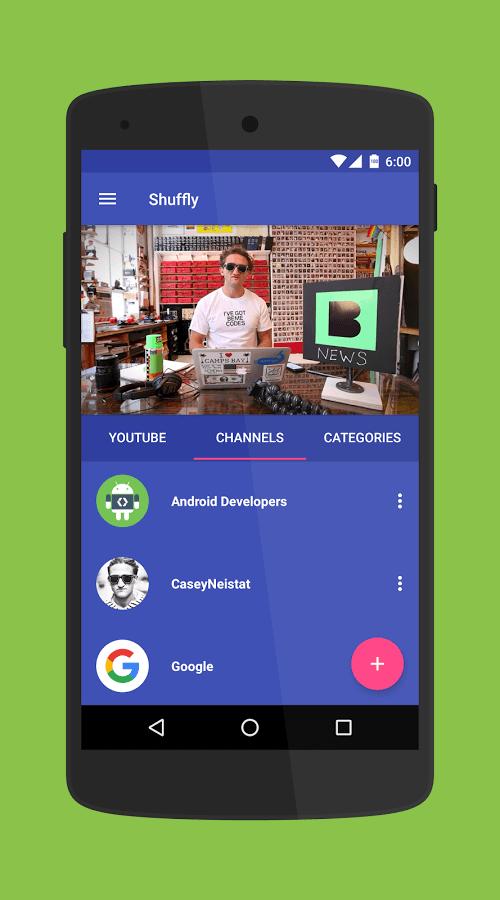 Print do Shuffly para Android.