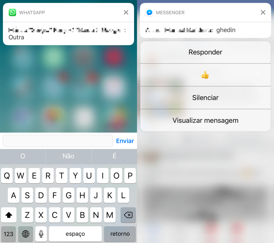 Como se comportam as smart replies no iOS 10