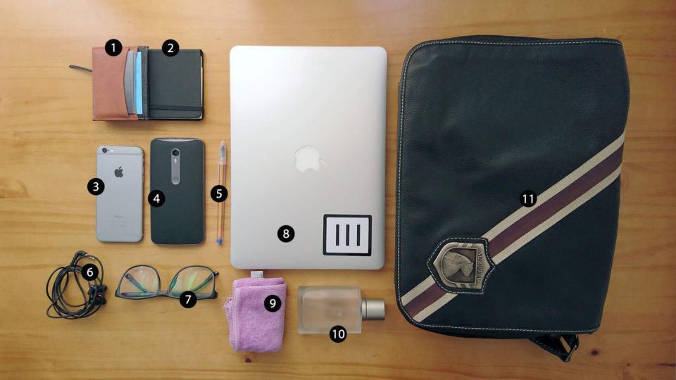 O que tem na mochila do Bruno Salutes.