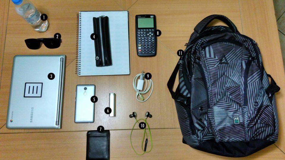 O que tem na mochila do Douglas Ullmann.