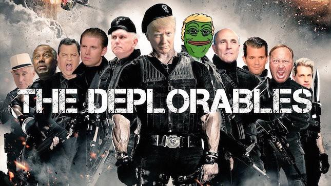 The Deplorables, montagem de Donald Trump incluindo Pepe the Frog entre conservadores.