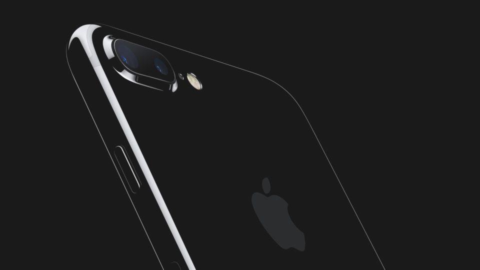 Detalhe da câmera do iPhone 7 Plus.