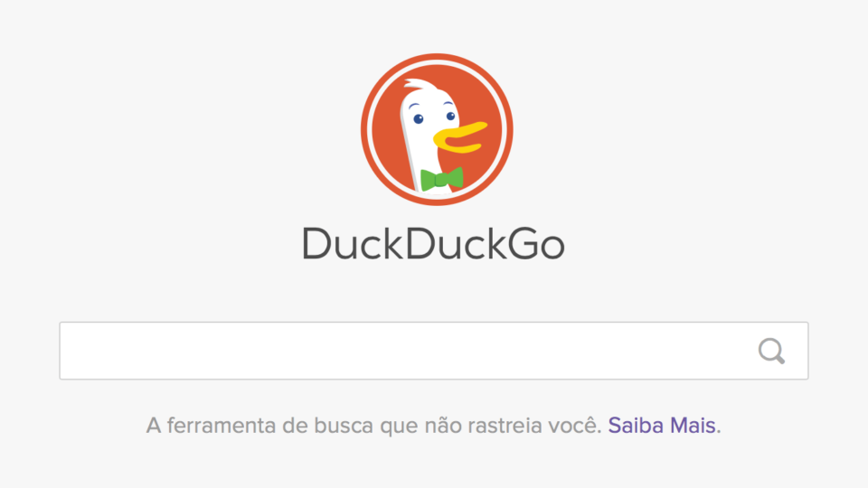 Campo de busca do DuckDuckGo.